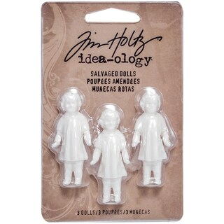 Tim Holtz Idea-Ology Salvaged Dolls 1.75in 3/Pkg