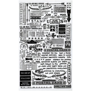 "Tim Holtz Idea-Ology Remnant Rubs Rub-Ons 4.75""X7.75"" Sheets 2/Pkg-Special Delivery"