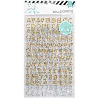 Heidi Swapp Hello Beautiful Glitter Stickers-Gold & Silver Alpha