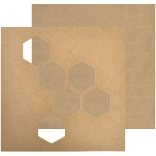 "Beyond The Page MDF Geo Hex Wall Art-11""X11""X.25"""