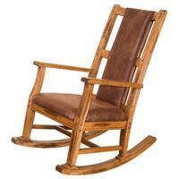 Sunny Designs Sedona Oak Hardwood T-Cushion Seat and Back Rocker