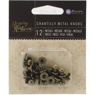 Memory Hardware Embellishments-Metal Knobs, 12/Pkg