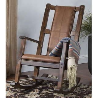 Sunny Designs Santa Fe Birch Hardwood T-Cushion Seat and Back Rocker