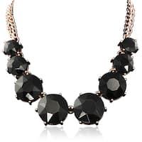 Adoriana Black Crystal Circle Strand Necklace