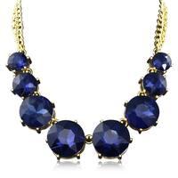Adoriana Blue Crystal Circle Strand Necklace