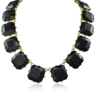 Adoriana Black Crystal Radiant Strand Necklace