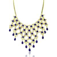 Adoriana Blue Floral Bib