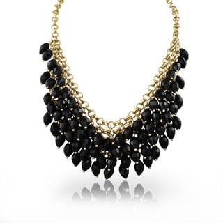 Adoriana Black Crystal Waterfal Bib
