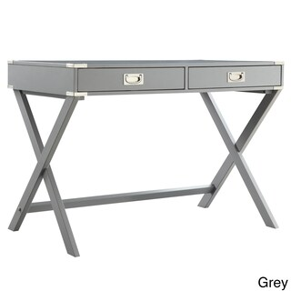 Kenton X Base Wood Accent Campaign Writing Desk iNSPIRE Q Modern (More options available)