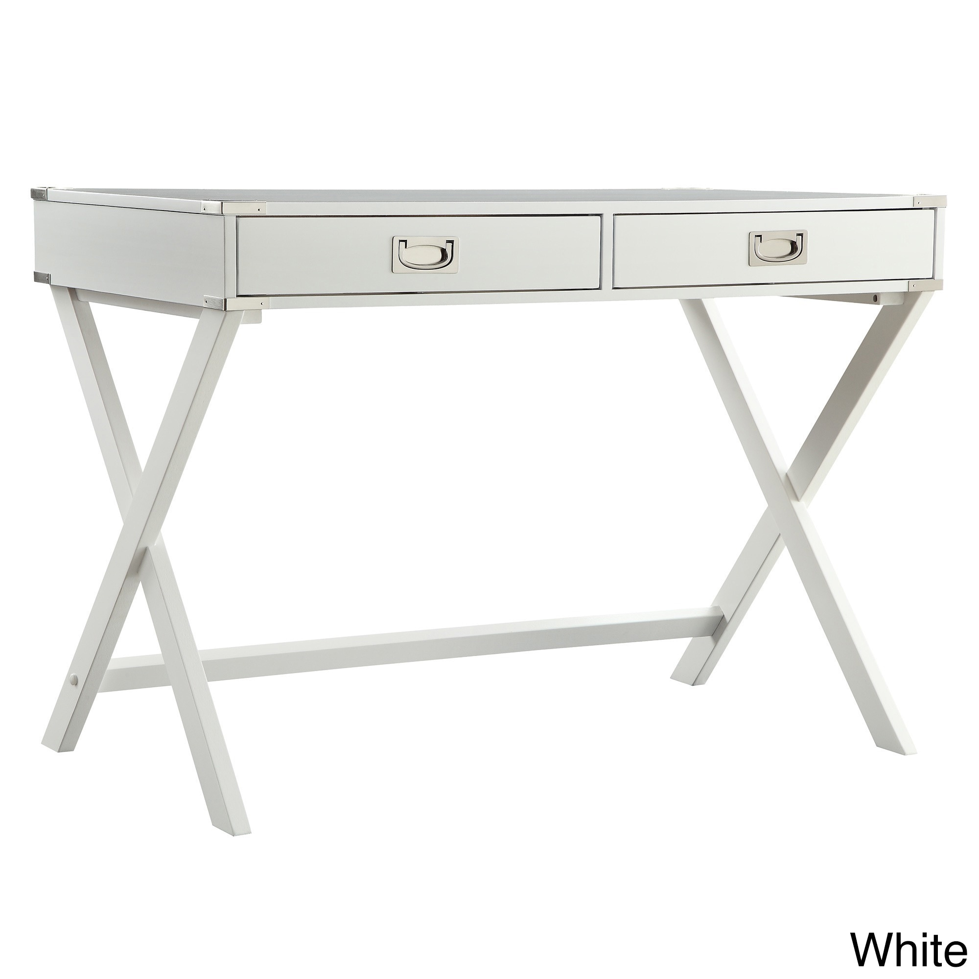 Kenton X Base Wood Accent Campaign Writing Desk iNSPIRE Q...