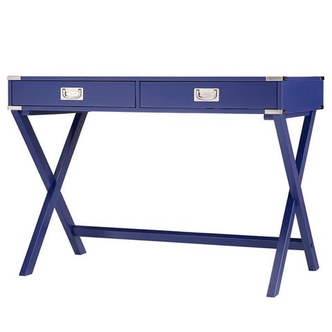 Kenton X Base Wood Accent Campaign Writing Desk iNSPIRE Q Modern