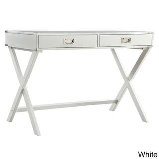 Kenton X Base Wood Accent Campaign Writing Desk Inspire Q Modern