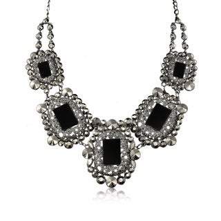 Adoriana Black Crystal Rockstar Necklace