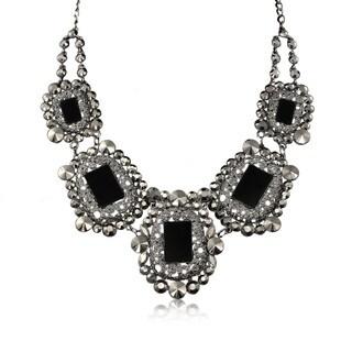 Adoriana Black Crystal Rockstar Necklace