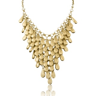 Passiana Gold Over Brass Teardrop Bib