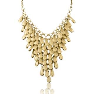Passiana Gold Over Brass Teardrop Bib https://ak1.ostkcdn.com/images/products/10035821/P17181341.jpg?impolicy=medium