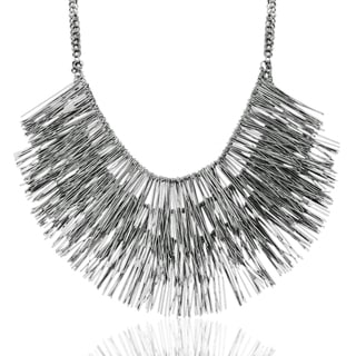 Adoriana Gunmetal Fringe Necklace