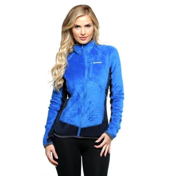 Shop Black Friday Deals On Patagonia Women S Andes Blue R2 Fleece Jacket Overstock 10035843