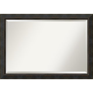 Wall Mirror Extra Large, Signore Bronze 41 x 29-inch - Espresso - 28.38 x 40.38 x 1.032 inches deep