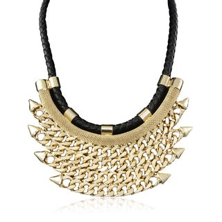 Adoriana Black Rope and Golden Chain Bib
