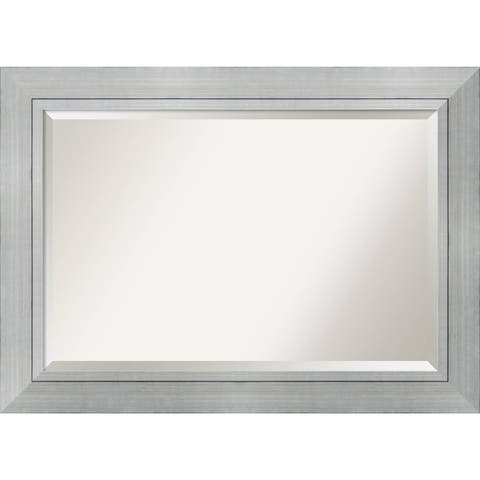 Wall Mirror Extra Large, Romano Silver 44 x 32-inch - Silver/Black - extra large - 44 x 32-inch