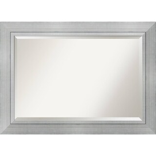 Wall Mirror Extra Large, Romano Silver 44 x 32-inch