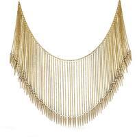 Adoriana Gold Over Brass Gladiator Spike Necklace