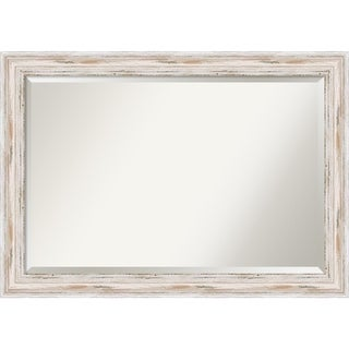 Maison Rouge Adair Extra Large White Wash Wall Mirror, 41 x 29