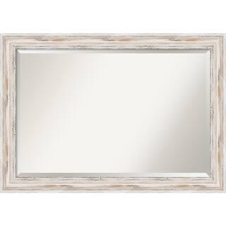wall mirror extra large alexandria white wash 41 x 29 inch - White Frame Mirror
