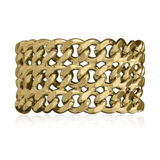 Passiana Gold Over Brass Chain Bracelet|https://ak1.ostkcdn.com/images/products/10035854/P17181313.jpg?impolicy=medium