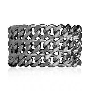 Passiana Gunmetal Over Brass Chain Bracelet|https://ak1.ostkcdn.com/images/products/10035857/P17181314.jpg?impolicy=medium