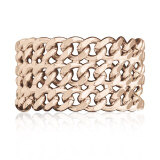 Passiana Rose Gold Over Brass Chain Bracelet