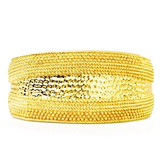 Passiana Textured Gold Over Brass Cuff