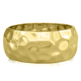 Passiana Hammered Gold Over Brass Cuff