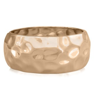 Passiana Hammered Rose Gold Over Brass Cuff