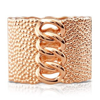 Passiana Chunky Chain Rose Gold Over Brass Cuff