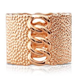 Passiana Chunky Chain Rose Gold Over Brass Cuff
