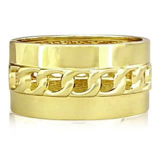 Adoriana Hollow Chain Gold Cuff