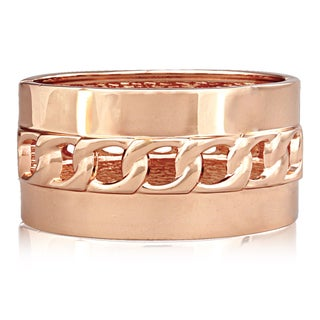 Passiana Hollow Chain Rose Gold Over Brass Cuff