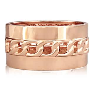 Passiana Hollow Chain Rose Gold Over Brass Cuff|https://ak1.ostkcdn.com/images/products/10035893/P17181415.jpg?impolicy=medium