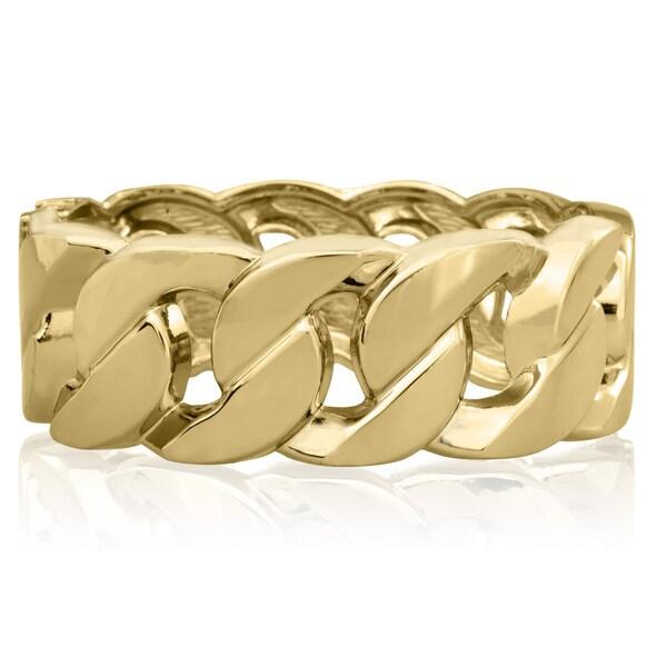 Passiana Chain Gold Over Brass Cuff