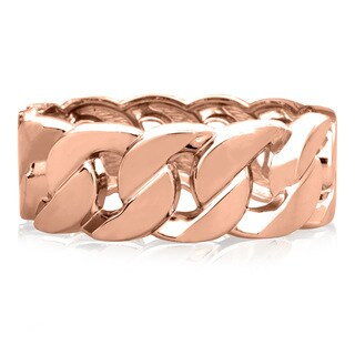Passiana Chain Rose Gold Over Brass Cuff