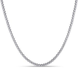 Miadora Signature Collection 18k White Gold 13 1/6ct TDW Diamond Necklace (G-H, SI1-SI2)