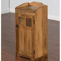 Sunny Designs Sedona Oak Wood Trash Box