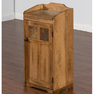 Sunny Designs Sedona Oak Wood Trash Box