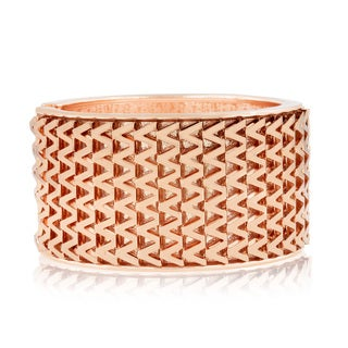 Passiana Shimmering Rose Gold Over Brass Cuff