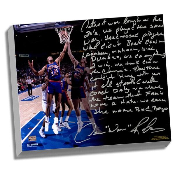Dennis Rodman Facsimile 'The Bad Boys' Stretched 22x26 Story Canvas
