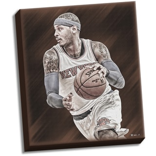 Carmelo Anthony Russet Canvas Collection Stretched 22x26 Canvas