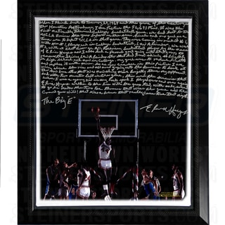 Elvin Hayes Facsimile ' Being Big E' Story Stretched Framed 22x26 Story Canvas