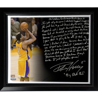 Robert Horry Facsimile ' Big Shot Rob' Story Stretched Framed 22x26 Story Canvas